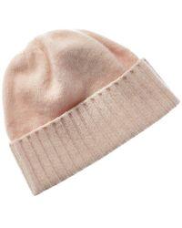 Portolano All Over Ribbed Cashmere Hat - Multicolor