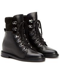 Aquatalia Clarisa Weatherproof Leather Boot - Black