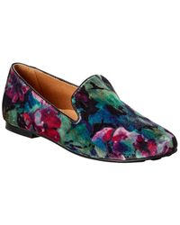 Gentle Souls By Kenneth Cole Eugene Velvet Flat - Blue