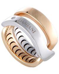 Damiani Certified 18k Two-tone Diamond Ring - Metallic