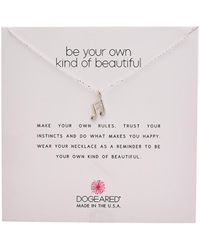 Dogeared Reminder Collection Silver Necklace - Metallic