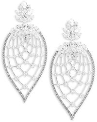 Adriana Orsini Crystal Petal Drop Earrings - Metallic
