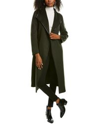 Tahari Juliette Double Face Medium Wool-blend Coat - Green