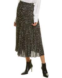 Max Studio Accordion Pleated Skirt - Black