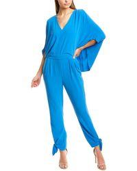 Halston Draped Jumpsuit - Blue