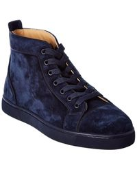 Christian Louboutin Louis Orlato Suede Trainer - Blue