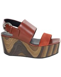 Céline - Leather Sandal - Lyst