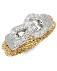 Alor - 18k Two-tone Diamond Ring - Lyst