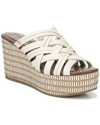 Sam Edelman Devon Leather Wedge Sandal - White