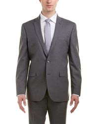 Kenneth Cole Slim Fit 2 Button Wool Stretch Suit - Grey