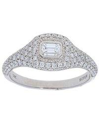 Nephora - 14k 0.85 Ct. Tw. Diamond Signet Ring - Lyst