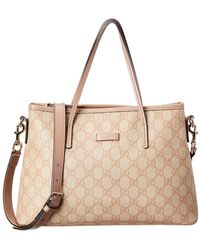 fcd945c7555a Gucci Pink Gg Supreme Canvas Small Jolicoeur Tote in Pink - Lyst