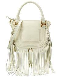 Chloé Marcie Fringe Leather Satchel - Multicolor