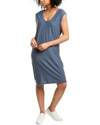James Perse Shell Tank Dress - Blue