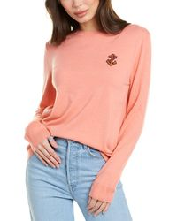 Chinti & Parker Anchor Badge Cashmere Sweater - Pink