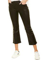 J Brand Selena Galactic Black Mid-rise Crop Bootcut Jean