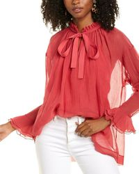 See By Chloé 2pc Silk-blend Blouse And Cami Set - Red