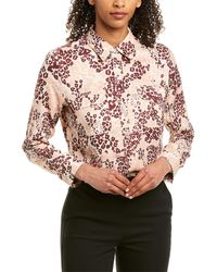 Equipment Slim Signature Silk-blend Top - Pink