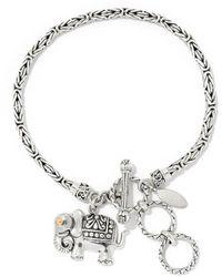 Samuel B. Silver Elephant Bangle Bracelet - Metallic