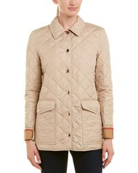 Burberry Westbridge Diamond Quilted Jacket - Natural