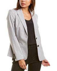Donna Karan Tropical Suit Jacket - Grey