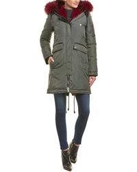 Nicole Benisti Madison Leather-trim Down Coat - Green