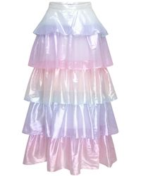 Olivia Rubin Tilly Silk Skirt - Purple