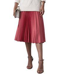 Reiss Isidora Pleated Midi Skirt - Pink