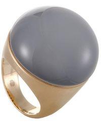 Roberto Coin 18k Rose Gold Onyx Ring - Gray