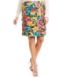 Michael Kors Leather Pencil Skirt - Black