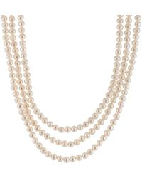 Splendid 5-6mm Pearl 100in Necklace - Metallic