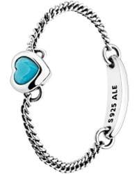PANDORA Spirited Heart Ring - Blue