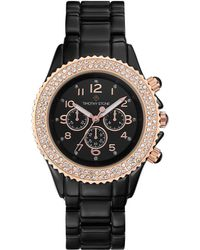 Timothy Stone Amber Crystal Watch - Black