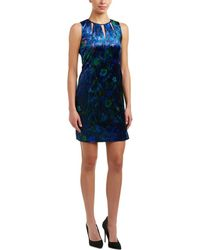 T Tahari - Charma Printed-velvet Necklace Dress - Lyst