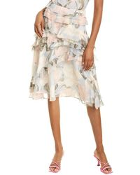 Jason Wu Crinkle Chiffon Silk Skirt - Grey