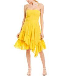 10 Crosby Derek Lam Asymmetrical Hem Cami Dress - Yellow