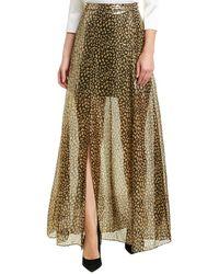 Alice + Olivia Athena Silk-blend Maxi Skirt - Metallic