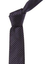 Canali Blue Dots Silk Tie