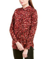 Equipment Slim Signature Jacquard Shirt - Red