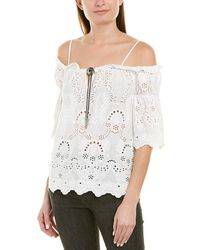 The Kooples English Embroidery Top - White