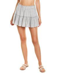 Eberjey Amalfi Stripe Ellie Cover-up Skirt - White