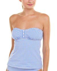 Nanette Lepore Capri Gingham Tankini Top - Blue
