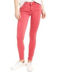 WASH LAB Fay Mid-rise Red Rock Skinny Leg Jean