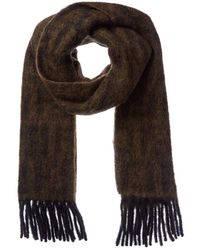 Fendi Ff Wool, Mohair, & Alpaca-blend Scarf - Brown