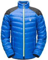 Spyder Geared Synthetic Down Jacket - Blue
