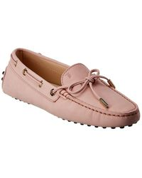 Tod's Leather Loafer - Pink