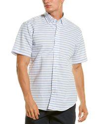 Ledbury Gunnin Classic Fit Linen-blend Shirt - White