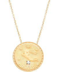 Gabi Rielle 22k Over Silver Aquarius Cz Necklace - Metallic