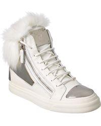 Giuseppe Zanotti Leather High-top Sneaker - White