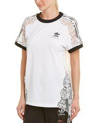 Stella McCartney Adidas 3-stripe Lace T-shirt - White